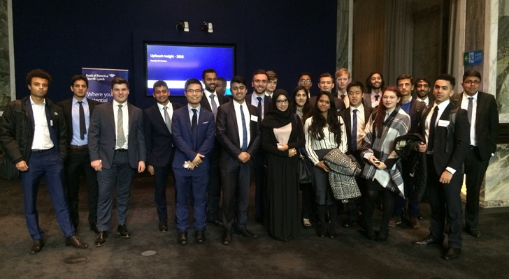Image of 2016 UpReach insight event participants at Bank of America Merrill Lynch's London office